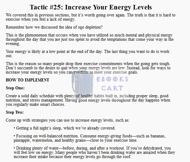 Exercise Every Day 32 Tactics for Building the Exercise Habit (Even If You Hate Working Out) Free Book Review