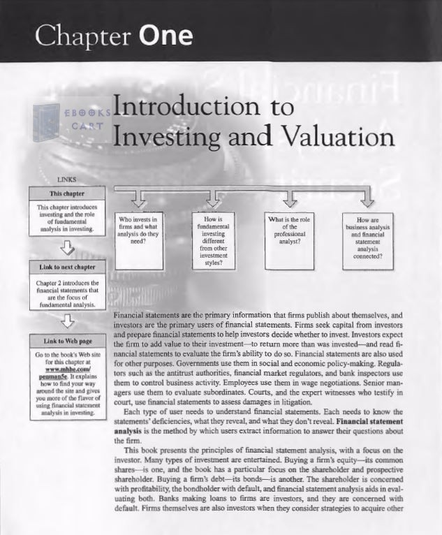 Financial Statement Analysis And Security Valuation, 5th Edition By PENMAN  PDF Review
