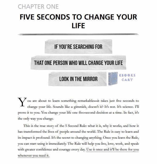 The 5 Second Rule - Livro - WOOK