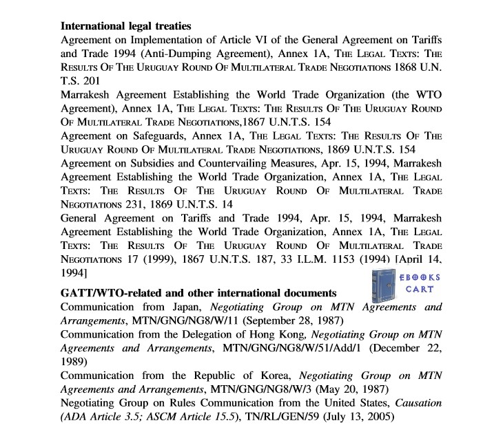 Injury and Causation in Trade Remedy Law: A Study of WTO Law and Country Practices by James J. Nedumpara Review
