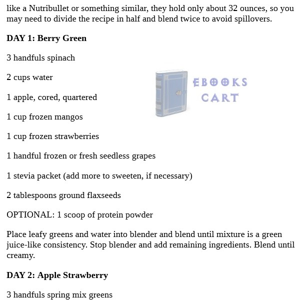 10 Day Green Smoothie Cleanse by JJ Smith PDF Free Download