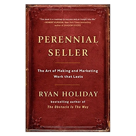 PDF Perennial Seller by Ryan Holiday Download
