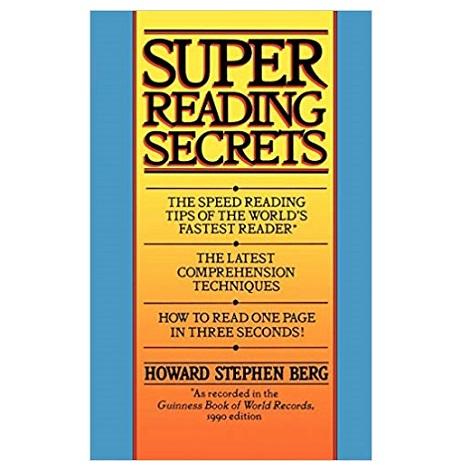 Super Reading Secrets by Howard Stephen Berg PDF Download - EBooksCart