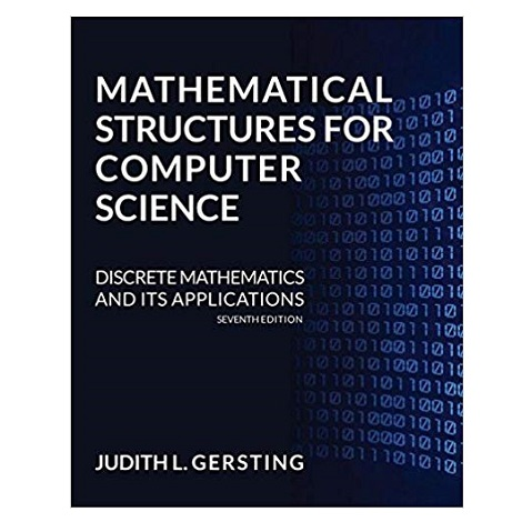Mathematical Structures for Computer Science by Judith L. Gersting PDF