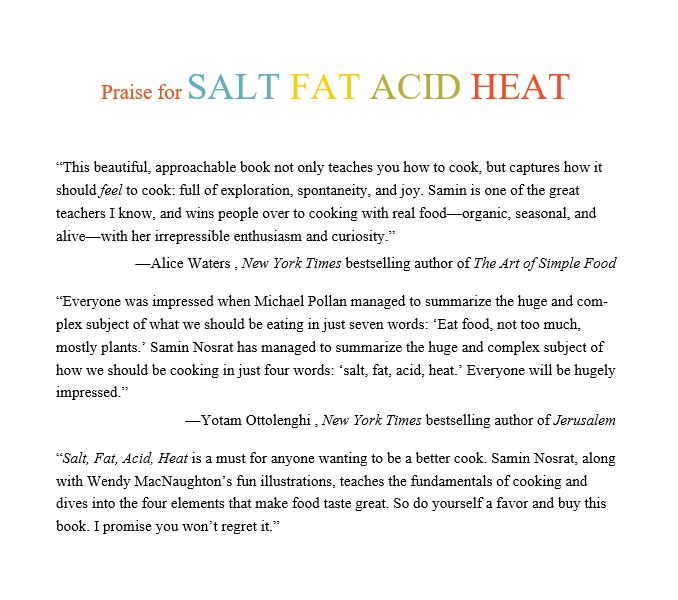 Salt, Fat, Acid, Heat by Samin Nosrat Free Download