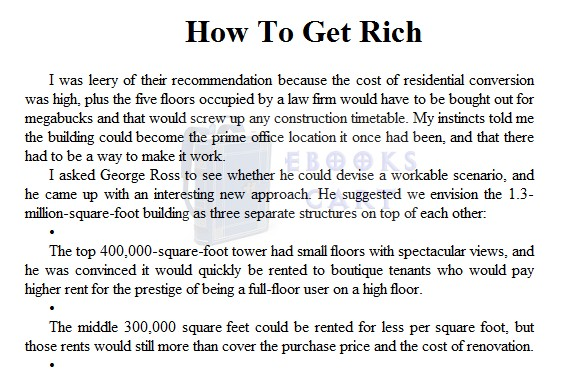 Download Trump How to Get Rich by Donald J. Trump summary