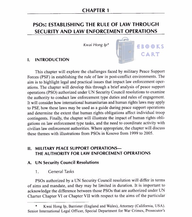 Practice and Policies of Modern Peace Support Operations under International Law PDF Free