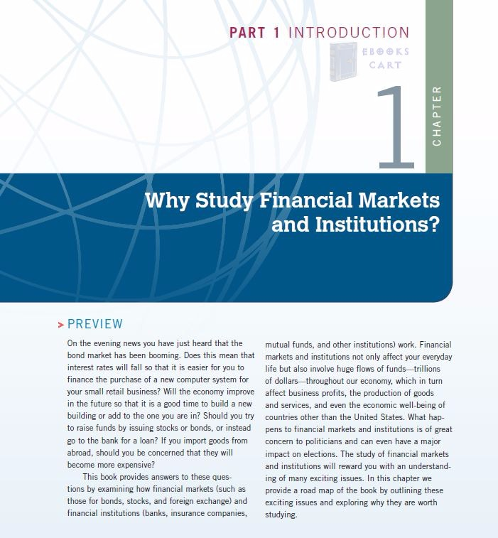 Financial Markets and Institutions (8th Edition) by Frederic S. Mishkin, Stanley Eakins PDF Review