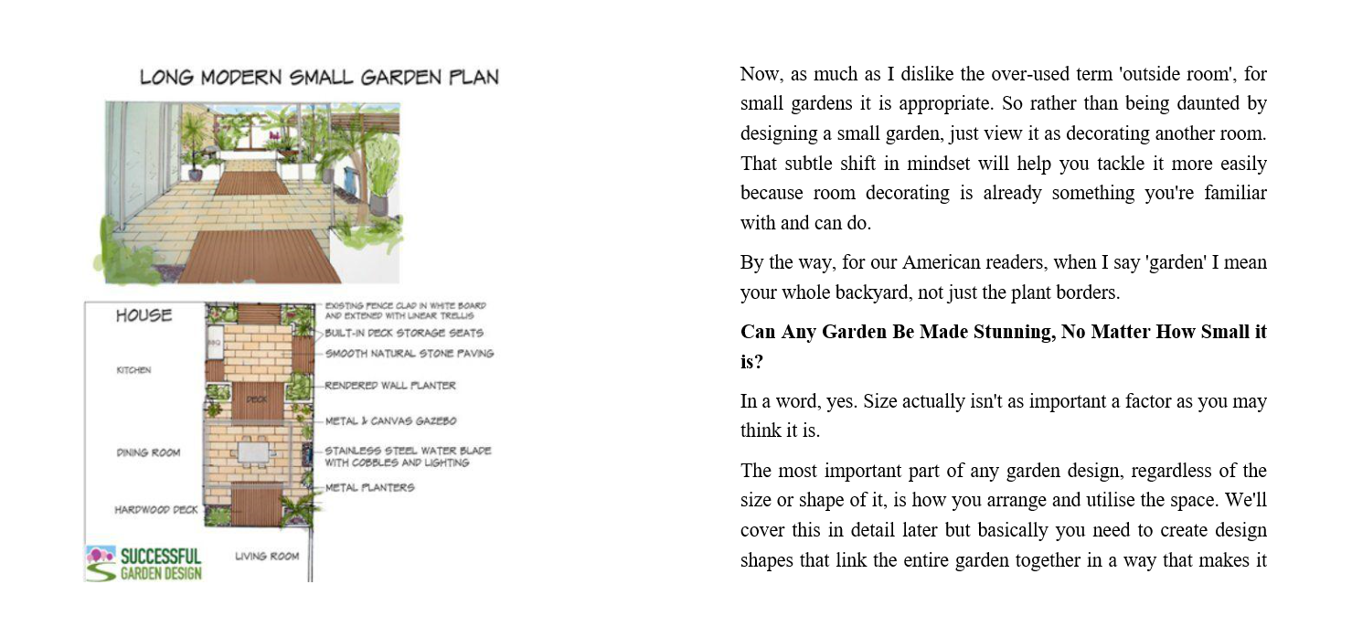 How to Design a Small Garden - Step-by-Step Landscaping Ideas, Pictures and Plans for Planning the Perfect Small Garden byRachel Mathews Review