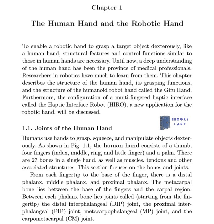 Robot Hands and Multi-Fingered Haptic Interfaces: Fundamentals and Applications by Haruhisa Kawasaki PDF Review