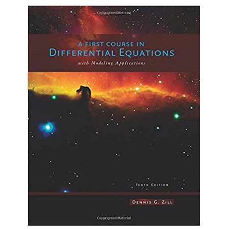 PDF A First Course in Differential Equations with Modeling Applications 10th Edition Download