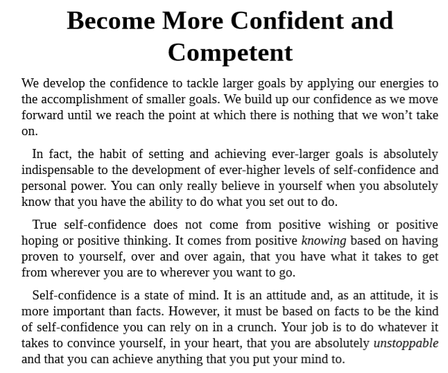 Download The Power of Self-Confidence by Brian Tracy PDF Free