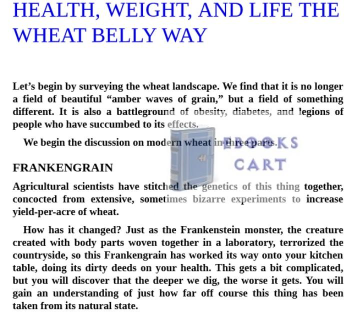 Wheat Belly Cookbook by William Davis PDF Download