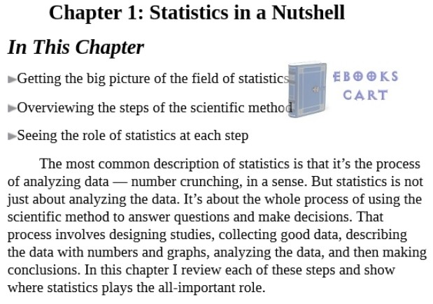 Statistics Essentials For Dummies by Deborah J. Rumsey PDF Download