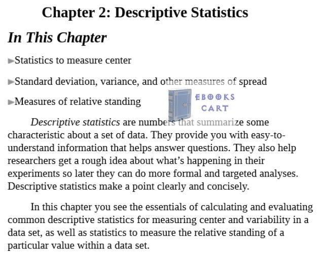 Statistics Essentials For Dummies by Deborah J. Rumsey epub Download