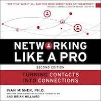 Networking Like a Pro by Ivan Misner PDF Download