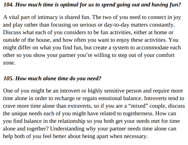 201 Relationship Questions by Barrie Davenport